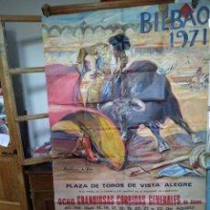 Carteles Toros: CARTEL TOROS. BILBAO 1971. TAMAÑO GRANDE. MARTINEZ DE LEON.. Lote 190766053