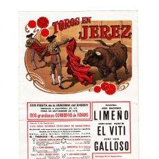 Carteles Toros: JEREZ.- CARTEL DETOROS EN SEDA CON SOBRE ORIGINAL. FERIA DEL CABALLO. AÑO 1978. . Lote 191473395