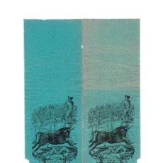 Carteles Toros: TOROS VALLA A LA CARRERA. 29X19.. Lote 191473598