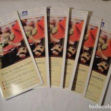 Carteles Toros: LOS 6 BOLETINES FERIA SAN MATEO 2000. LOGROÑO. DEL 21 AL 26 SEPTIEMBRE, LA MANZANERA.. Lote 192186325