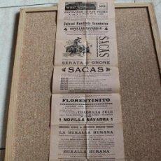 Carteles Toros: CARTEL DE TOROS DE BARCELONA. 29 DE JUNIO DE 1911. FLORENTINITO, SACAS Y LECHA.. Lote 192260420