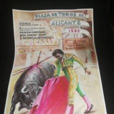 Carteles Toros: CARTEL PLAZA DE TOROS DE ALICANTE 1985. Lote 192291738