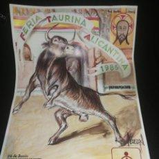 Carteles Toros: CARTEL FERIA TAURINA ALICANTINA 1985. Lote 192292010