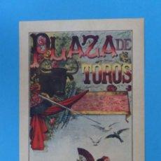 Carteles Toros: ANTIGUO CARTEL TOROS - SIN IMPRIMIR LITOGRAFICO, ILUSTRADOR: A. SELLEZ - AÑOS 1890-1900. Lote 192573356