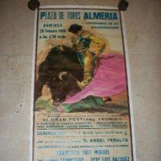 Carteles Toros: PLAZA DE TOROS DE ALMERIA-VI GRAN FESTIVAL TAURINO-28 DE FEBRERO DE 1988-FCO RUIZ MIGUEL-JOSE ANT.CA. Lote 193230806