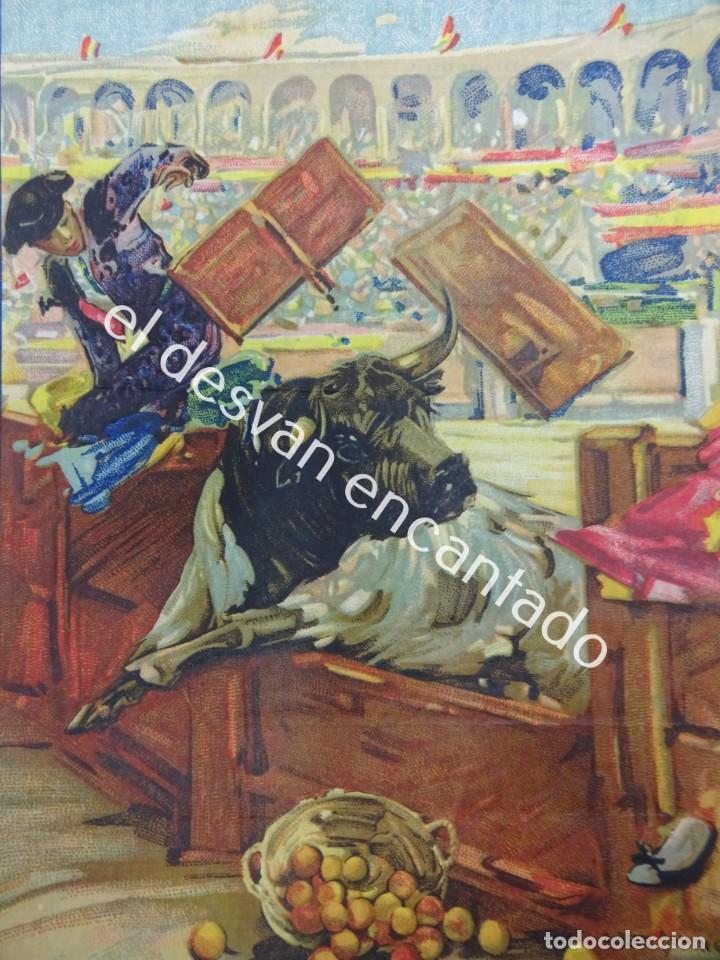 CARTEL TOROS PLAZA ARENES DE PERPIGNAN. AGOSTO 1931. 33 X 16 CTMS. ILUST: ROBERTO DOMINGO (Coleccionismo - Carteles Gran Formato - Carteles Toros)
