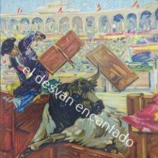 Carteles Toros: CARTEL TOROS PLAZA ARENES DE PERPIGNAN. AGOSTO 1931. 33 X 16 CTMS. ILUST: ROBERTO DOMINGO. Lote 193820263