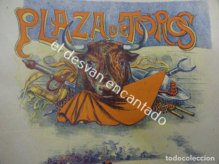 CARTEL TOROS LITOGRÁFICO ILUSTRADO LABARTA. 43 X 18 CTMS. MUY ANTIGUO (Coleccionismo - Carteles Gran Formato - Carteles Toros)