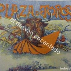 Carteles Toros: CARTEL TOROS LITOGRÁFICO ILUSTRADO LABARTA. 43 X 18 CTMS. MUY ANTIGUO. Lote 193820608