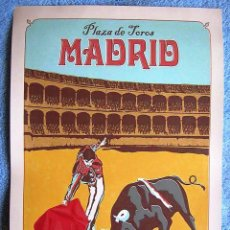 Carteles Toros: CARTEL POSTER RETRO TURISMO - PLAZA DE TOROS, MADRID, ESPAÑA - MUY BUEN ESTADO.. Lote 194084437