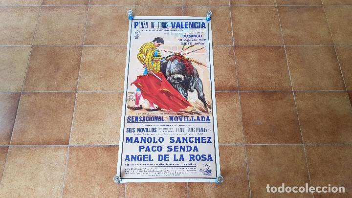 CARTEL PLAZA DE TOROS DE VALENCIA (1991) SIN DOBLAR (Coleccionismo - Carteles Gran Formato - Carteles Toros)