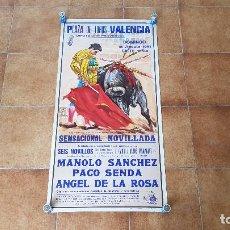 Carteles Toros: CARTEL PLAZA DE TOROS DE VALENCIA (1991) SIN DOBLAR. Lote 194163815