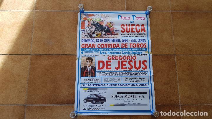 CARTEL PLAZA DE TOROS DE SUECA (1994) GREGORIO DE JESUS (Coleccionismo - Carteles Gran Formato - Carteles Toros)