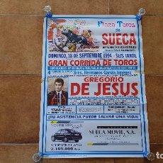 Carteles Toros: CARTEL PLAZA DE TOROS DE SUECA (1994) GREGORIO DE JESUS. Lote 194164407
