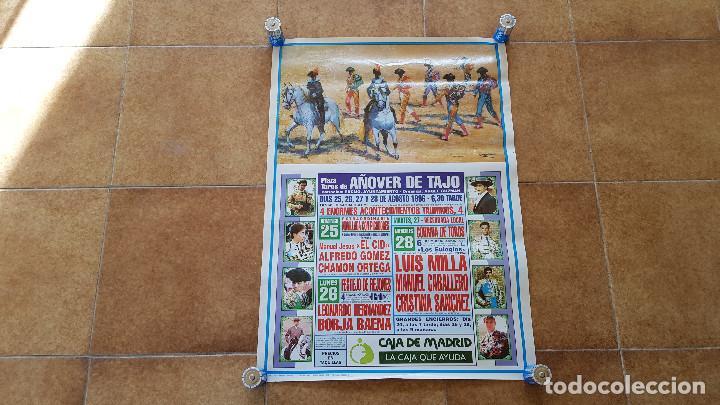 CARTEL PLAZA DE TOROS DE AÑOVER DE TAJO (1996) SIN DOBLAR (Coleccionismo - Carteles Gran Formato - Carteles Toros)