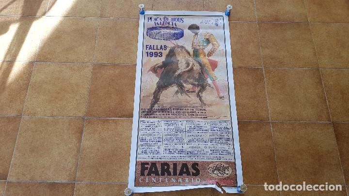CARTEL PLAZA DE TOROS DE VALENCIA FALLAS (1993) SIN DOBLAR (Coleccionismo - Carteles Gran Formato - Carteles Toros)