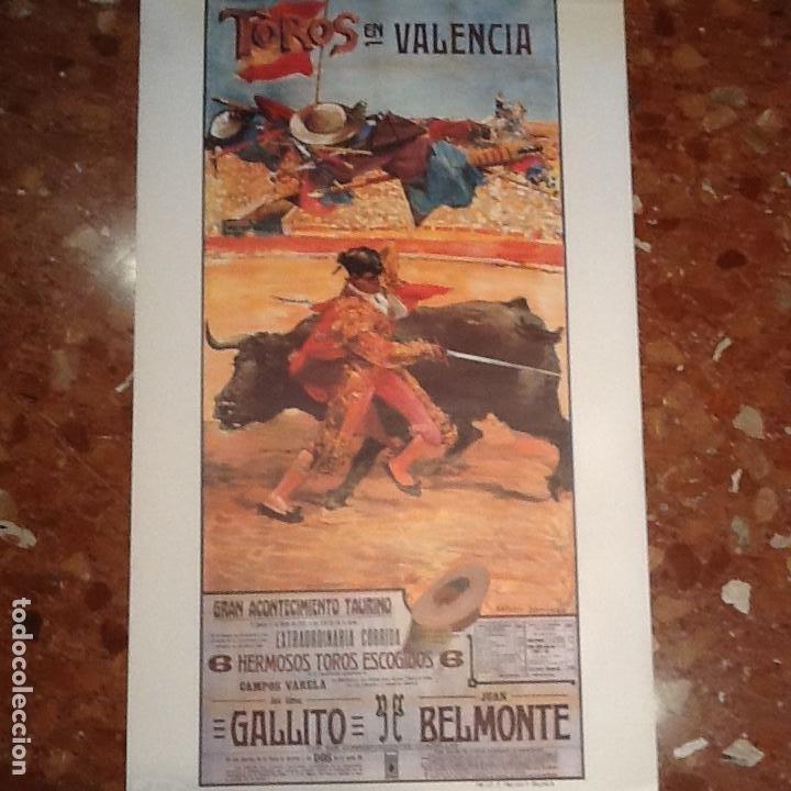 CARTEL TOROS DE VALENCIA ANO 1915 (Coleccionismo - Carteles Gran Formato - Carteles Toros)