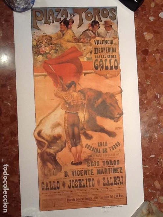 Carteles Toros: Cartel toros de Valencia anyo 1918 - Foto 2 - 194303528