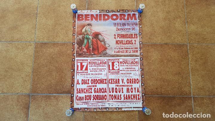 CARTEL PLAZA DE TOROS DE BENIDORM (1996) VI BOLSIN TAURINO (Coleccionismo - Carteles Gran Formato - Carteles Toros)