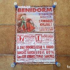 Carteles Toros: CARTEL PLAZA DE TOROS DE BENIDORM (1996) VI BOLSIN TAURINO. Lote 194320291