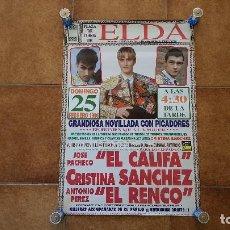 Carteles Toros: CARTEL PLAZA DE TOROS DE ELDA (1996). Lote 194320458