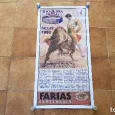 Carteles Toros: CARTEL PLAZA DE TOROS DE VALENCIA (1993) BOUS FALLAS. Lote 194321511