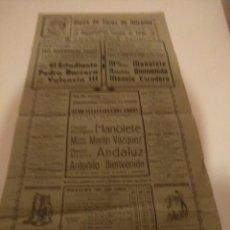 Carteles Toros: CARTEL DE TOROS,MANOLETE, PLAZA DE TOROS ALICANTE... Lote 194337635