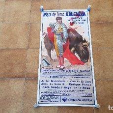 Affissi Tauromachia: CARTEL PLAZA DE TOROS DE VALENCIA (1991) ENRIQUE PONCE, MANZANARES Y EL SORO. Lote 194500440