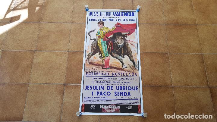 CARTEL PLAZA DE TOROS DE VALENCIA (1990) JESULIN DE UBRIQUE (Coleccionismo - Carteles Gran Formato - Carteles Toros)