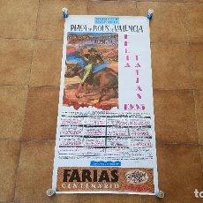 Carteles Toros: CARTEL PLAZA DE TOROS DE VALENCIA (1995) FERIA DE FALLAS. Lote 194507225