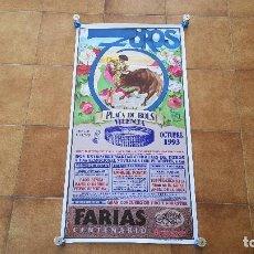 Carteles Toros: CARTEL PLAZA DE TOROS DE VALENCIA (1993). Lote 194508031