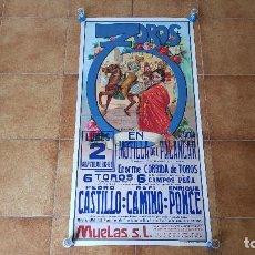 Carteles Toros: CARTEL PLAZA DE TOROS DE MOTILLA DEL PALANCAR (1991) RAFI CAMINO Y ENRIQUE PONCE. Lote 194608565