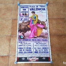 Carteles Toros: CARTEL PLAZA DE TOROS DE VALENCIA (1990). Lote 194613772