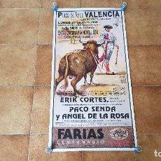 Carteles Toros: CARTEL PLAZA DE TOROS DE VALENCIA (1992). Lote 194615237