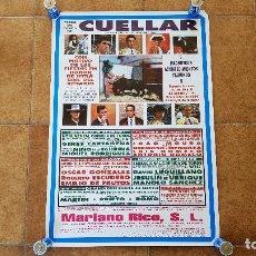 Carteles Toros: CARTEL PLAZA DE TOROS DE CUELLAR (1994) FIESTAS DE NUESTRA SEÑORA DEL ROSARIO. Lote 194636206