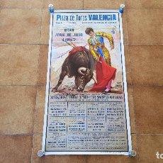 Carteles Toros: CARTEL PLAZA DE TOROS DE VALENCIA (1987) FERIA DE JULIO. Lote 194636675