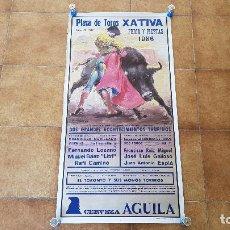 Carteles Toros: CARTEL PLAZA DE TOROS DE XATIVA (1986) JATIVA. Lote 194638150