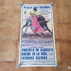 Carteles Toros: CARTEL PLAZA DE TOROS DE VALENCIA (1986). Lote 194638320