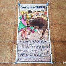 Carteles Toros: CARTEL PLAZA DE TOROS DE VALENCIA (1986) GRAN FERIA DE JULIO. Lote 194638405
