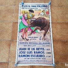 Carteles Toros: CARTEL PLAZA DE TOROS DE VALENCIA (1986) GRAN FERIA DE JULIO. Lote 194638438