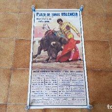 Carteles Toros: CARTEL PLAZA DE TOROS DE VALENCIA (1986) GRAN FERIA DE JULIO. Lote 194638765