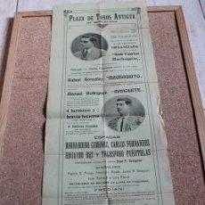 Carteles Toros: CARTEL DE TOROS DE BARCELONA. 6 DE NOVIEMBRE DE 1913. MACHAQUITO MANUEL RODRÍGUEZ MANOLETE.. Lote 194697845