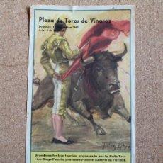 Carteles Toros: CARTEL DE TOROS DE VINAROZ. 12 DE SEPTIEMBRE DE 1965. TOMÁS CAUDET, ADRIÁN GARCÍA RODRÍGUEZ, ETC.. Lote 194698241
