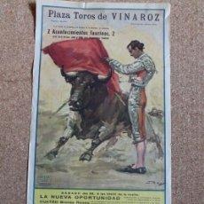 Carteles Toros: CARTEL DE TOROS DE VINAROZ. 28 Y 29 DE AGOSTO DE 1965. ANTONIO CHAVES Y ÁNGEL RISUEÑO.. Lote 194698265