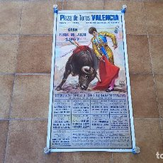Carteles Toros: CARTEL PLAZA DE TOROS DE VALENCIA (1987) GRAN FERIA DE JULIO. Lote 194767287