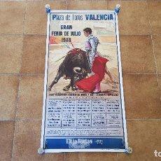 Carteles Toros: CARTEL PLAZA DE TOROS DE VALENCIA (1988) GRAN FERIA DE JULIO. Lote 194767466