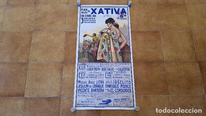 CARTEL PLAZA DE TOROS DE XATIVA (1995) (Coleccionismo - Carteles Gran Formato - Carteles Toros)