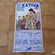 Carteles Toros: CARTEL PLAZA DE TOROS DE XATIVA (1995). Lote 194774831