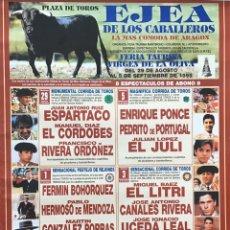 Carteles Toros: CARTEL TOROS EJEA FIESTAS 1999. Lote 195000498