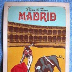 Carteles Toros: CARTEL POSTER RETRO TURISMO - PLAZA DE TOROS, MADRID, ESPAÑA - MUY BUEN ESTADO.. Lote 195127387